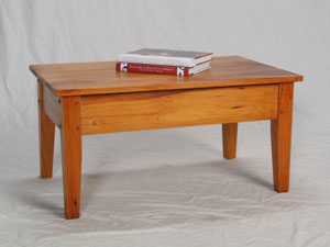 Cypress Cocktail Table with Wide Aprons