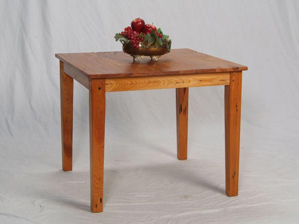 Cypress Cafe Table with Tapered Legs
