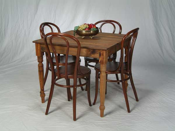 Sinker Cypress Cafe Table with Turned Legs