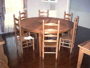 Round Cypress Dining Table