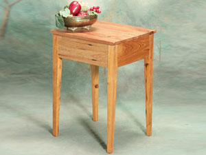 Cypress Side Table With Wide Apron